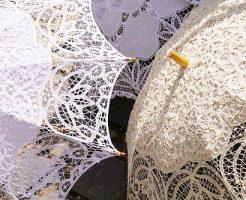 日傘が2つ