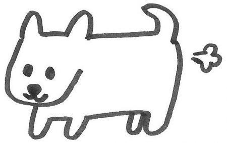 イヌのおなら画像