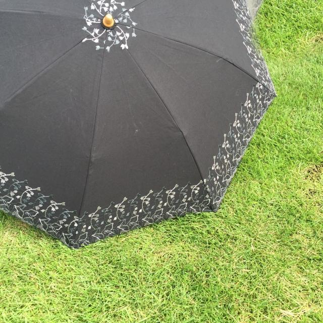 かわいい黒色の日傘