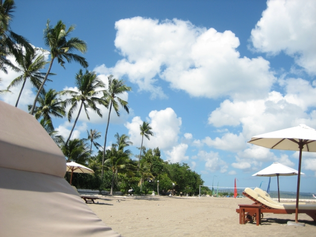 バリ島の浜辺