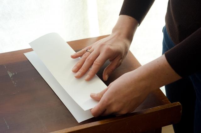 折り紙の手つき