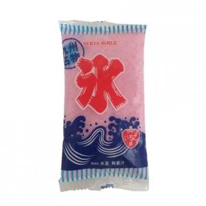 セリア・ロイル袋のかき氷(イチゴ味)