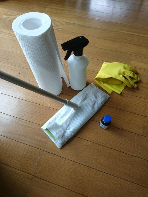ウタマロを使った床掃除