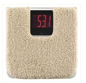 洗える体重計用マット付デジタルヘルスメーター HD-395UC (ベージュ)